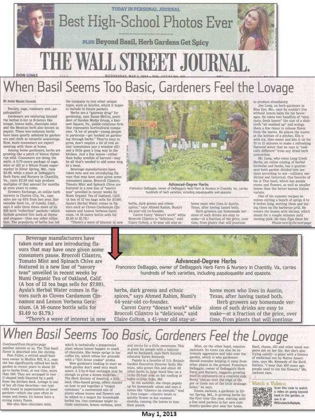 The Wall Street Journal - May 1, 2013